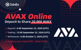 CoinEx Avalanche Lansmanı Kapsamında 20,000 AVAX Coin Dağıtıyor!