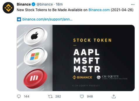 Binance'ten Tesla (TSLA) Sonrası Yeni Hamle: Artık Apple da Var! › CoinTürk