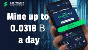 StormGain Akıllı Telefon Kullanıcılarına Kripto Para Madenciliğine Erişim Şansı Sunuyor