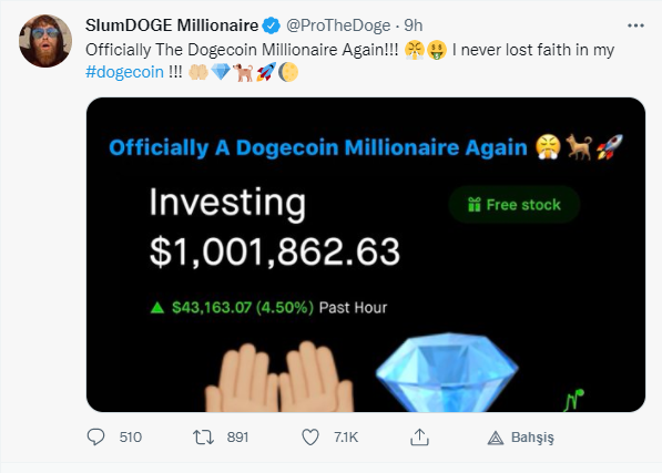 SlumDOGE Millionaire'in paylaşımı